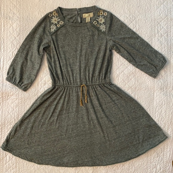 Peek Heather Grey Embellished Fall Dress
